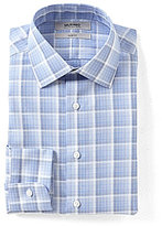 Murano Slim-Fit Spread Collar Checked Ombre Dress Shirt
