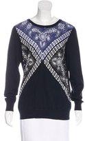 Sandro Silk-Paneled Bandanna Sweater w/ Tags