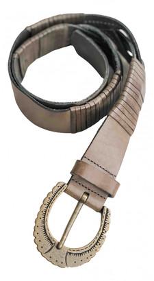 Adolfo Dominguez Khaki Leather Belts