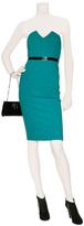 Catherine Malandrino Turquoise Strapless Dress with Vinyl Waistband