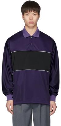 Name Purple Polo Long Sleeve Shirt