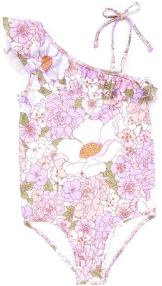 Zimmermann Kids Floral-Print Ruffled Swimsuit