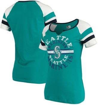 New Era Women's Aqua Seattle Mariners Scoop Neck T-Shirt