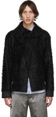 Kiko Kostadinov Black Goff Zip Darted Jacket