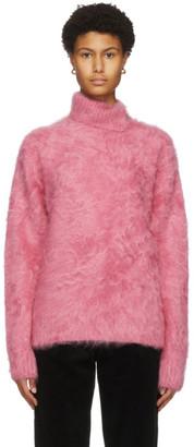 Commission Pink Brushed Cashmere Turtleneck