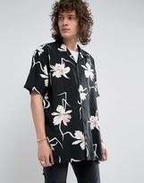 Asos Oversized Viscose Floral Shirt