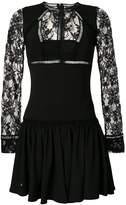 Philipp Plein lace panel mini dress