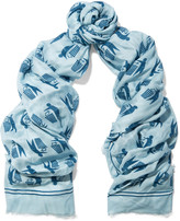 Anya Hindmarch Keep Britain printed modal and cashmere-blend scarf