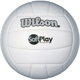 Wilson Soft Play Outdoor Volleyball - Synthetic Leather, White