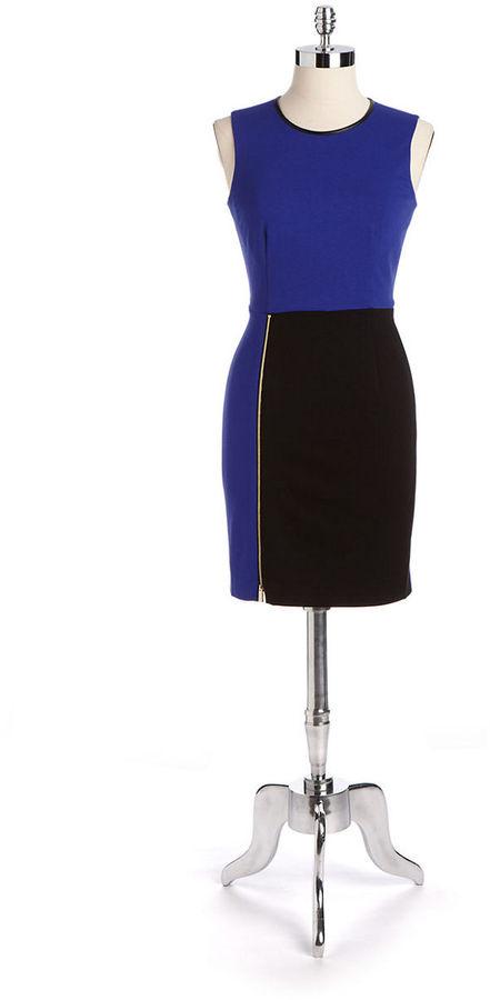 Vince Camuto Sleeveless Colorblock Sheath Dress