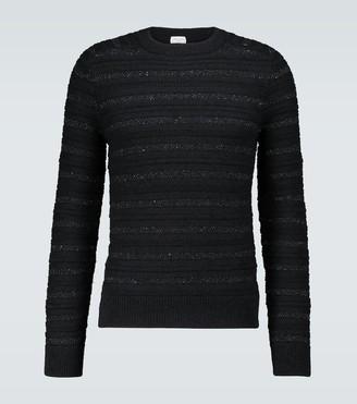 Saint Laurent Metallic detail striped sweater