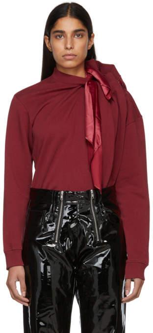 Y/Project Burgundy Scarf Sweatshirt