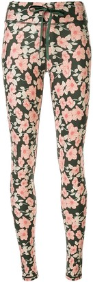 The Upside Poppy print yoga leggings