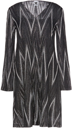 M Missoni Metallic Crochet-knit Mini Dress