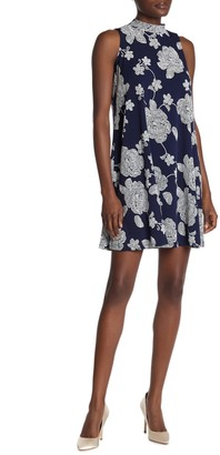 Robbie Bee Jersey Floral Print Bow Back Dress