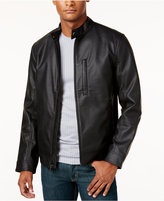 Alfani Men's Faux-Leather Slim Fit Jacket, Only at Macy's