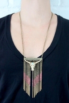 Wildfox Couture Jewelry Bull Head Necklace in Gold