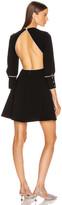 Miu Miu Jewel Open Back Mini Dress in Black | FWRD