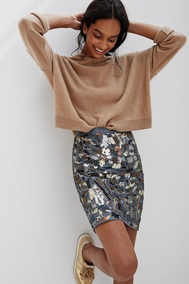 Maeve Marcella Sequined Mini Skirt