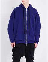 Unravel Reversible cotton-jersey hoody