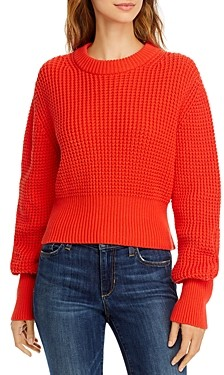 French Connection Luna Mozart Waffle-Knit Cotton Sweater