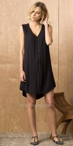 Greylin V-Neck Grommet Dress