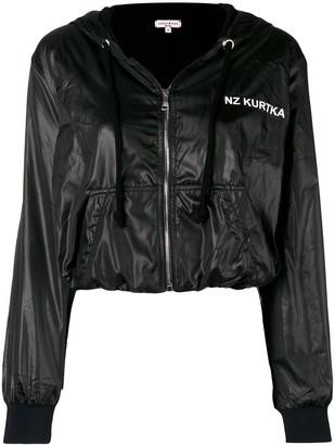 Natasha Zinko logo cropped hooded jacket