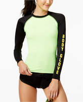 Body Glove Juniors' 80s Throwback Colorblocked Long-Sleeve Rash Guard Women's Swimsuit