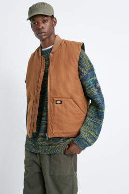 Dickies Lawrenceburg Duck Brown Gilet - brown S at Urban Outfitters