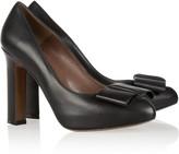 Marni Bow-embellished leather pumps