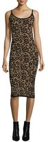 Michael Kors Scoop-Neck Floral Tank Dress, Black