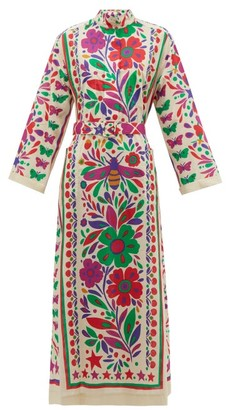 Gucci Paradise-print Cotton Shirtdress - Beige Multi