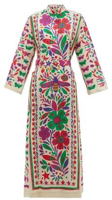Gucci Paradise-print Cotton Shirtdress - Womens - Beige Multi