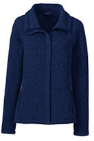Lands' End Women's Tall Sweater Fleece Jacket-Cranapple Heather