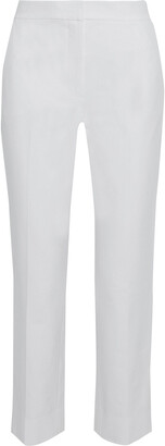 Diane von Furstenberg Fia Stretch-cotton Straight-leg Pants