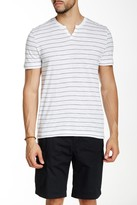 Kenneth Cole New York Striped Henley Tee