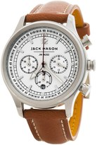 Jack Mason Nautical Chronograph Watch with Leather Band - 36mm