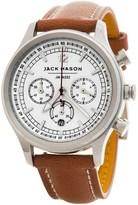 Jack Mason Nautical Chronograph Watch with Leather Band - 36mm