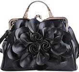 Coofit Stereo Rose Handbag Flower Leather Cute Purse Evening Bag for Women