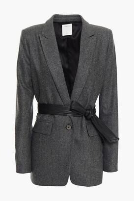 Sandro Belted Wool-blend Blazer