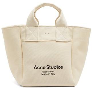 Acne Studios Alisse Logo-print Canvas Tote Bag - Beige