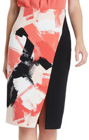 Ellen Tracy Petite Asymmetrical Pencil Skirt