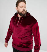 Sixth June PLUS Hoodie In Burgundy Velour
