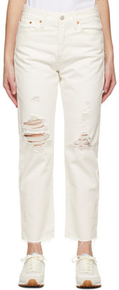 Levi's Levis White Wedgie Straight Jeans