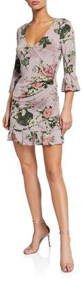 BCBGeneration Rose Print Mini Dress