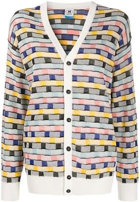 M Missoni Striped Intarsia Cardigan