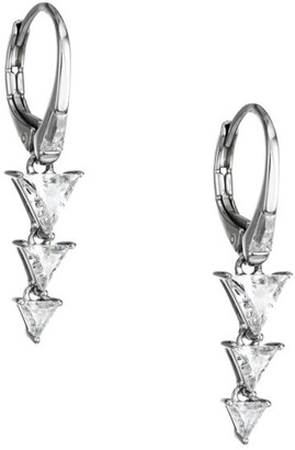 Adriana Orsini Rhodium-Plated Sterling Silver Cubic Zirconia Drop Earrings