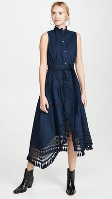Derek Lam 10 Crosby Nerioa Dip Maxi Dress