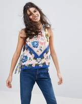 Free People This Sweet Love Printed Scoop Arm Vest Top