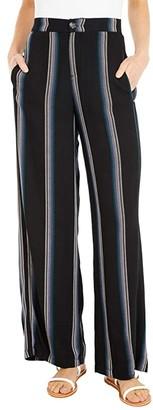 Hurley Tulum Beach Pants (Black/Stripe) Women's Clothing